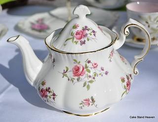 Pretty Pink Rose Teapot Vintage Paragon