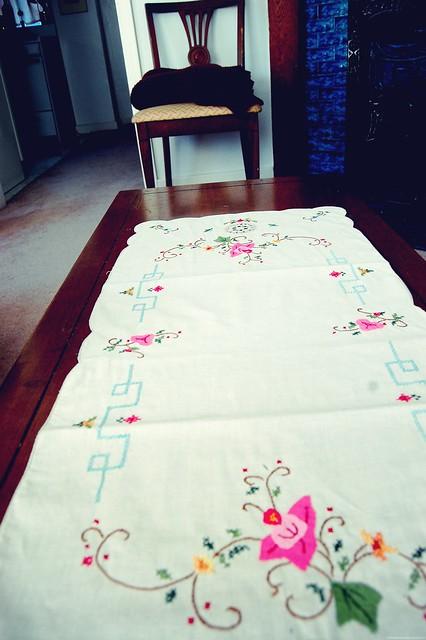 hand sewn.