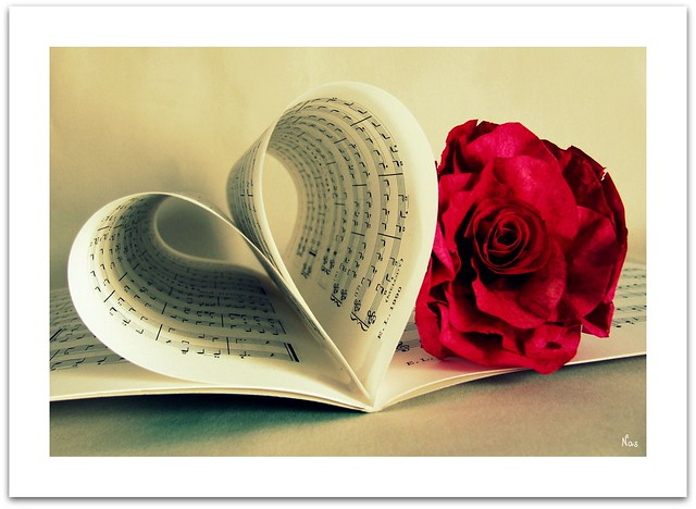 Music, love, and a flower.  The ingredients for a romantic hour.