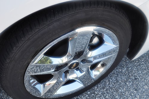 Front Passenger's Side Wheel of Thrifty Car Rental