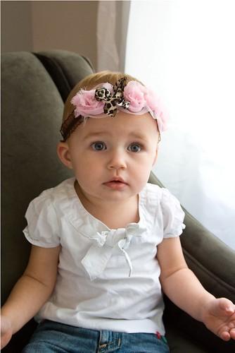 Elle headband Pink Web