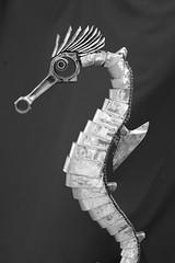 hipo détail (pedrobigore) Tags: sculpture chien table bateau poisson métal fer masque acier danseuse récup volant bestioles récupération soudure soudeur féraille akouma hipocamppe