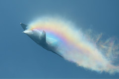 Raptor - Rainbow Vapor (Trent Bell) Tags: california plane airplane demo fighter military jet airshow raptor f22 miramar vapor 2010 mcas
