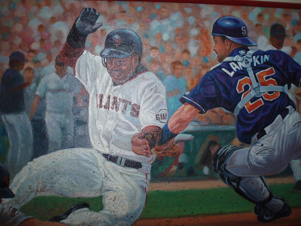 MUSEUM OF THRIFT SHOP ART - GO GIANTS!   (ADDA in LEAH GARCHIK 4 TIMES!)