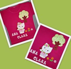 Camiseta Hello Kitty (Patch For Kids) Tags: hello kitty patchcolagem applique camisetascustomizadas patchapliqu