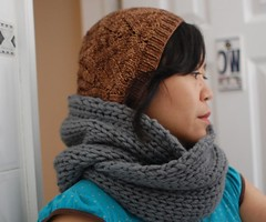 Knitting Pattern Infinity Scarf Straight Needles : Charly Infinity Scarf Getting Purly With It