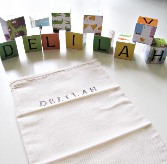 modern baby alphabet blocks with two Ls, modern baby blocks, personalized baby gifts, etsy, eco friendly baby gifts