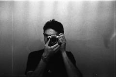 Diueine & Grain (Diueine) Tags: portrait blackandwhite bw selfportrait film monochrome contrast myself iso3200 50mm prime blackwhite high nikon noiretblanc kodak trix grain iso 400 push pancake asa grayscale pushed f18 3200 ilford monteiro 2010 highiso contrasty fg diueine id11 schwarzweis seriese 3stops pushitrealgood schwarzweisfotografie diueinemonteiro bydiueine