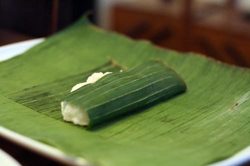 Preparing suman: rice
