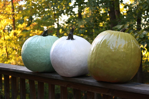 spray painted pumpkins 2