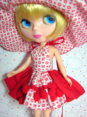 Outfit Red Loius Vuitton Summer para Blythe-Dal-Blybe-CCE- Basaak-Pullip -Dolls