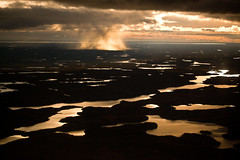 Land of Lakes (davebrosha) Tags: autumn light sunset lake clouds landscape community lakes dramatic nwt aerial arctic event seal elder inuit northwestterritories nunavut making communities goldenhour yellowknife skim bhp kugluktuk bhpbilliton tradtitional davebroshaphotography kmitt