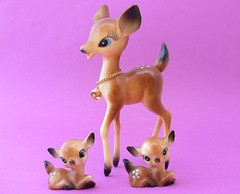 Adorable Celluloid Vintage Deer and Fawn Set (jollypollypickins) Tags: cute statue set vintage woodland adorable kitsch charm deer fawn etsy figurine homedecor collectibles celluloid jollypollypickins