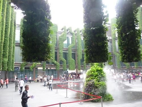 Inside the France Pavilion