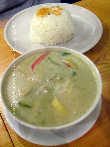 Thai Green Curry with Garlic Fried Rice - The Great Thai Cafe