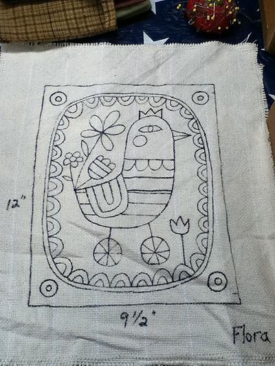 Hooked Rug Sketch