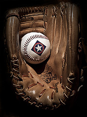 texas rangers baseball... world series 2010!!! (vrot01) Tags: ball baseball glove texasrangers worldseries ep1 40f14 firstshotwithcvnokton40f14 gottalovethatfirstrangerlogoabaseballwearingacowboyhat thatsthewaybaseballgo