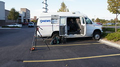 Corey Rose in the KUSA 9News van