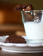 ... (..Ania.) Tags: glass cookies baking milk chocolatecookie glassofmilk chocolateandpeanutbuttercookie