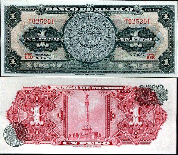 1 Peso Mexiko 1957-70, P59