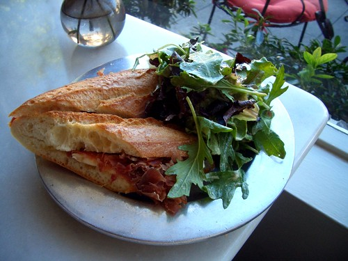 Sweetsalt Serrano ham & fig sandwich