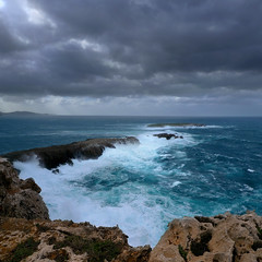 The end of Menorca (B℮n) Tags: seagulls storm island high spain topf50 day dramatic rocky unesco biospherereserve remote desolate viewpoint topf100 uninhabited menorca minorca balearicislands milesaway seasky strongwind balearics rockycoastline tramontana 100faves 50faves themediterraneansea capdecavalleria mediterraneanlandscape naturalenvironments northernwind ragingsea playasdelnorte geomenorca nestingontherocks crystalclearblue tramontanawind unspoiltislandofthebalearics wavesupto50mhigh 90mhighcliffs themostnortherlypointofmenorca cominodetramontana ruggedrockycove cliffsplungingintothesea waveshittherockycoast