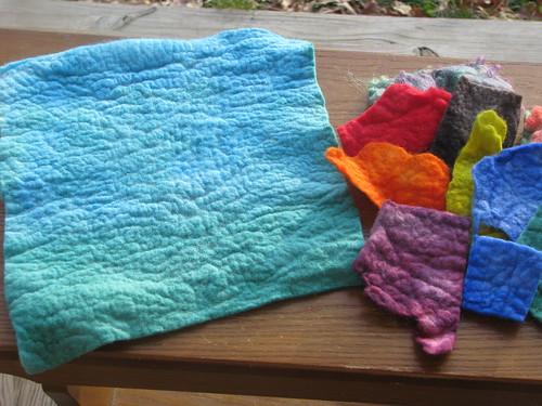 Merino wool felt