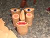 Initial Canes (tooaquarius) Tags: face cane polymerclay build millefiori november2010
