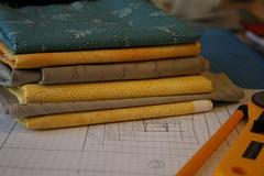Mug rug swap - sneak peek (tracey.chorley) Tags: handmade fabric mugrug scrappymugrugswap2