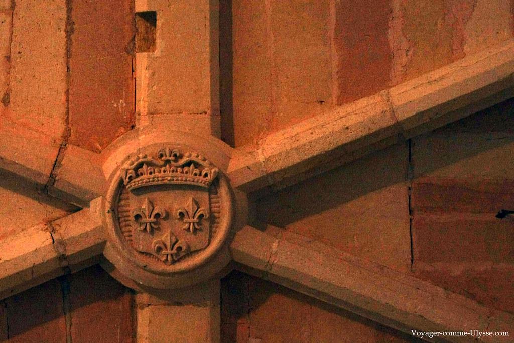 Blason au réfectoire de l'Abbaye
