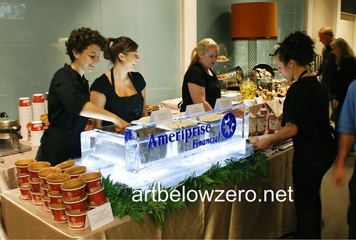 Ameriprise's Gelato Station ice sculpture