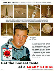 ... the smoke preferred by astronauts! (x-ray delta one) Tags: mars illustration vintage mercury space astronaut nasa 1950s skylab scifi lifemagazine 1960s outerspace tomorrowland apollo gemini mir cosmonaut vostok thefuture aerospace cccp saturnv soyuz worldoftomorrow spacerace spaceexploration magazineillustration wernervonbraun robertmccall chesleybonestell willieley