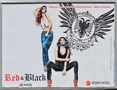 Red & Black Jeans, Kosova's first Jeans Brand, Pristina, September 26, 2010 (Ivan S. Abrams) Tags: ivansabrams abramsandmcdanielinternationallawandeconomicdiplomacy ivansabramsarizonaattorney ivansabramsbauniversityofpittsburghjduniversityofpittsburghllmuniversityofarizonainternationallawyer