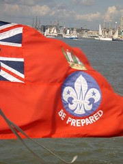 Be Prepared (Riccy Wings) Tags: sea boats sailing harbour flag antwerp tallships oceanscout offshorescout tallshipsanniversary riccywings