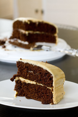Devil's Food Cake with Fresh Peanut Butter Frosting 2