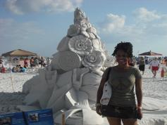 Adrienne with Sand Sculpture