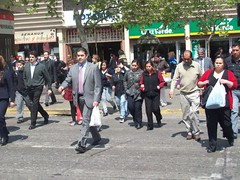 Chileans Crossing Street  picture