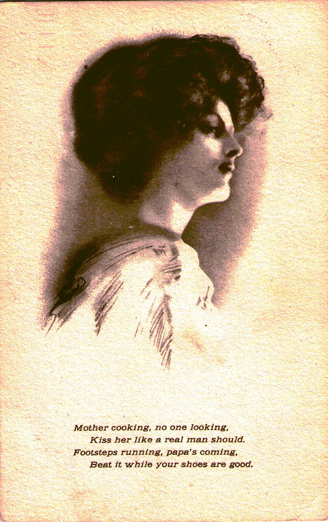 Creepy Vintage Postcard Poem