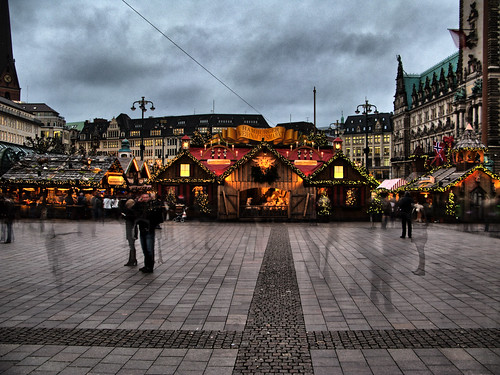 Christmas Market Rathausmarkt Hamburg by Thragor 2, on Flickr