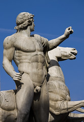 Horse Tamer (Lawrence OP) Tags: horse rome statue twins torso marble piazza athlete castor pollux dioscuri quirinal