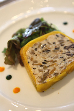 mushroom and fish terrine