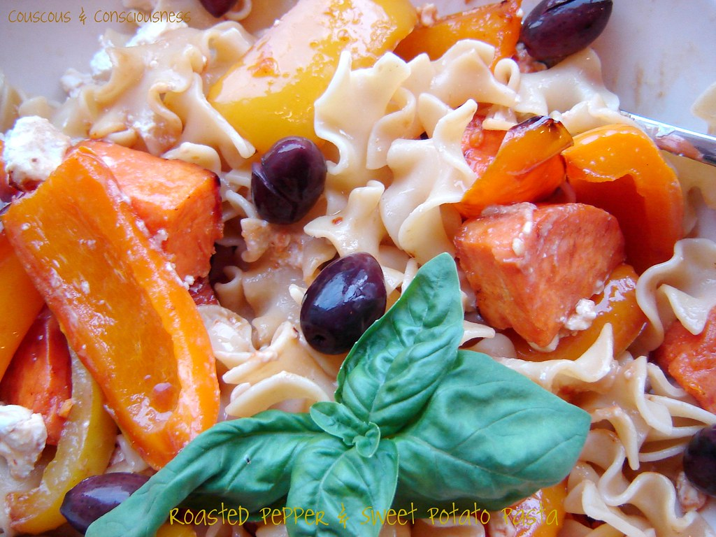 Roasted Pepper & Sweet Potato Pasta 3