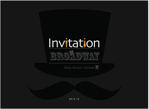 Broadway邀請卡