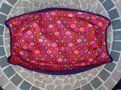 The lining sewn to the fat bag (crochetbug13) Tags: crochet cascade220 fatbag samantasfatbag