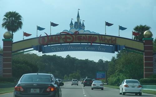 Entering Disney World