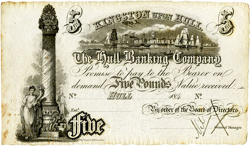 Hull Banking Company Five Pound Banknote