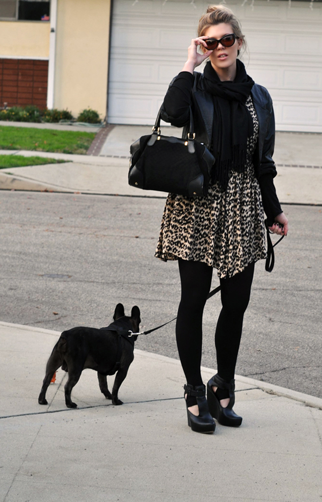 fashion blogger, french bulldog, outfit post, leopard print, gucci, tom ford cat eye sunglasses, DSC_0051