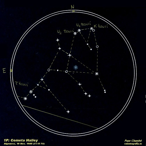 Halley Comet, Nov. 10th, 1985 (21:15)
