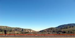 Orange rail panorama (zphaze) Tags: bridge sky panorama rail roadside barricade dailyshoot ds445
