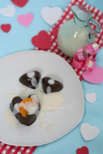 Chocolate Pudding w/ Vanilla Sauce2
